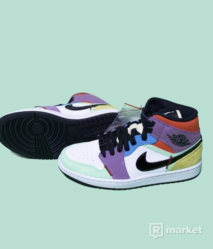 Air Jordan 1 mid multicolour