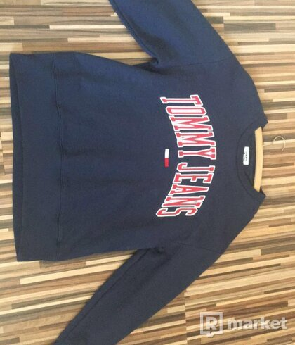 TOMMY JEANS  Clean Collegiate Crew navy