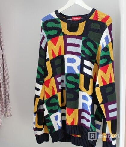 SUPREME letter sveter