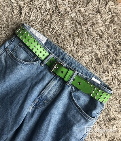 GREEN STUDDED BELT
