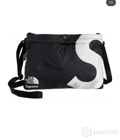 SUPREME THE NORTH FACE S LOGO SHOULDER BAG BLACK
