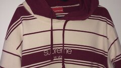 Supreme New York striped hoodie