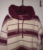 Supreme New York striped hoodie