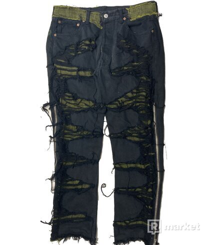 custom Levis 501 black/green