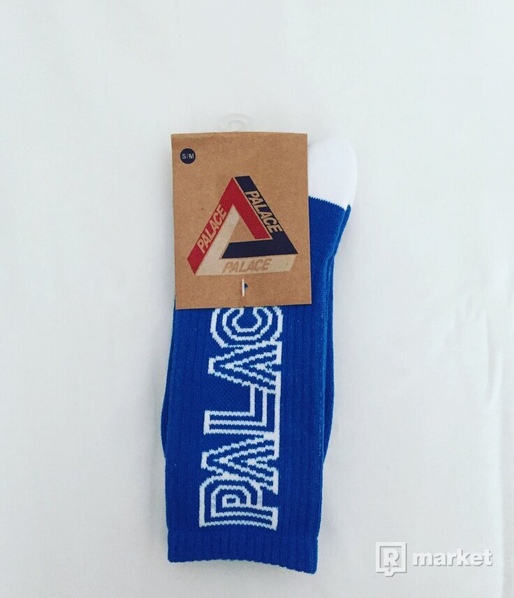 Palace Socks Blue Logo