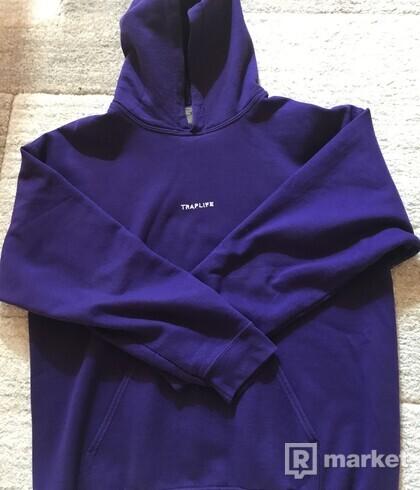 Traplife fialová hoodie