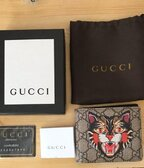 Gucci bifold wallet gg supreme angry cat bifold print