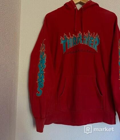 Supreme Thrasher Flame Logo hoodie