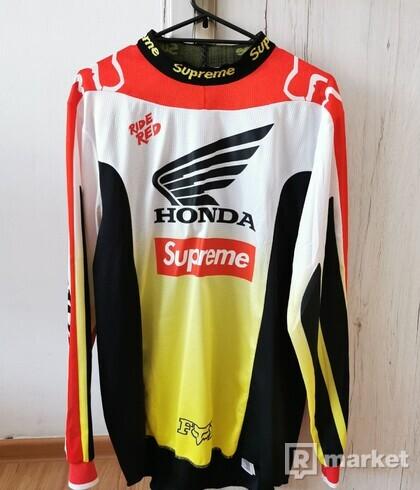 Supreme Honda Fox Racing Moto Jersey Top Red