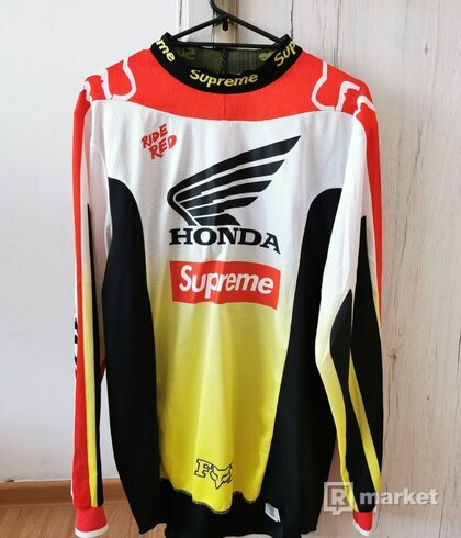 Supreme Honda Fox Racing Moto Jersey Top Red