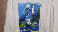 HERON PRESTON BIRDS HOODIE WHITE
