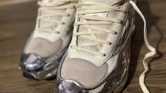 Adidas ozweego x Raf Simons cream white Silver metalic