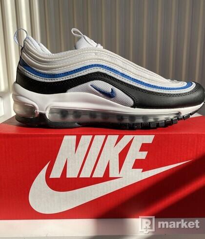 Nike Air Max 97 White Black Signal Blue (GS) EU 36-36.5