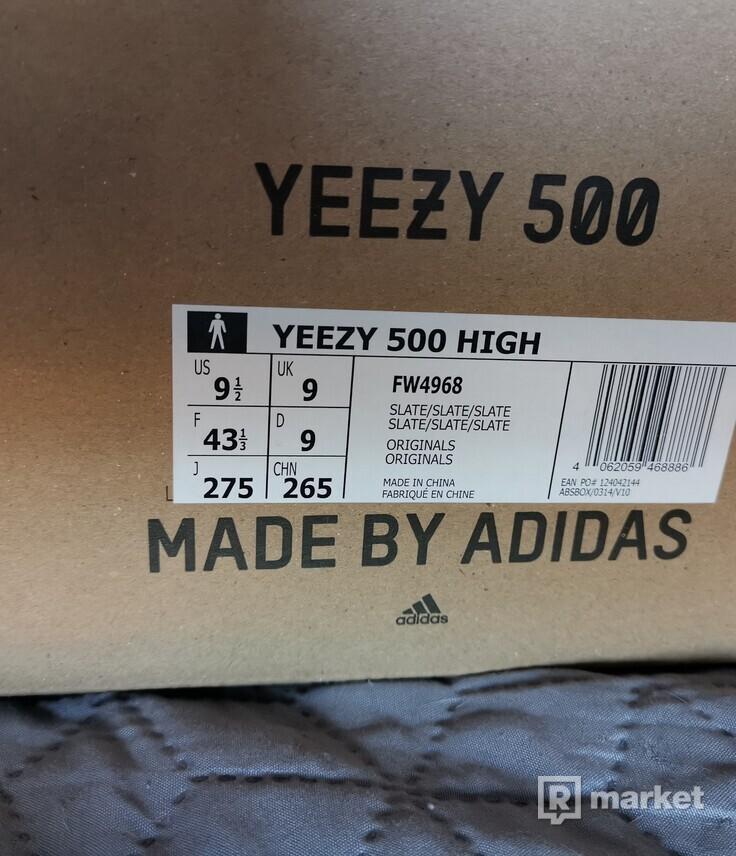 Yeezy 500 high slate 43 1/3