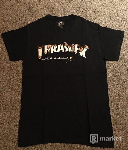 Thrasher tričko Intro Burner (black)