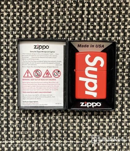 Supreme Logo Zippo Red
