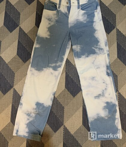 Cloud Print Skate Fit Jeans