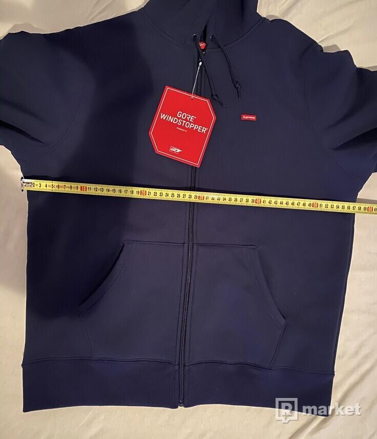 Supreme Small Box Windstopper Zip Up Hooded Sweatshirt Navy M