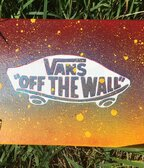 Canvas spray paint, Vans