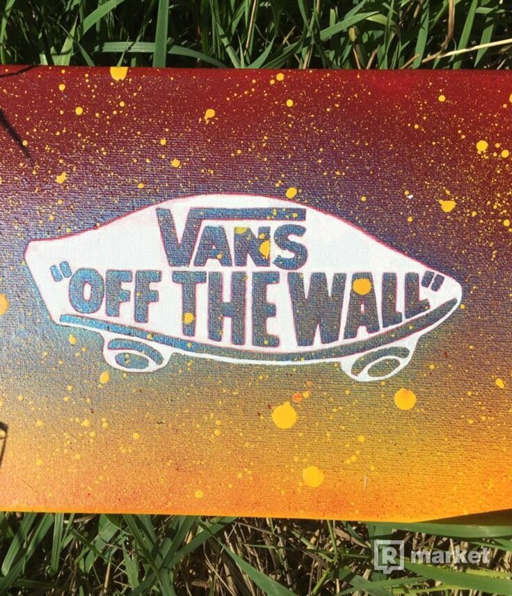 Canvas spray paint, Vans