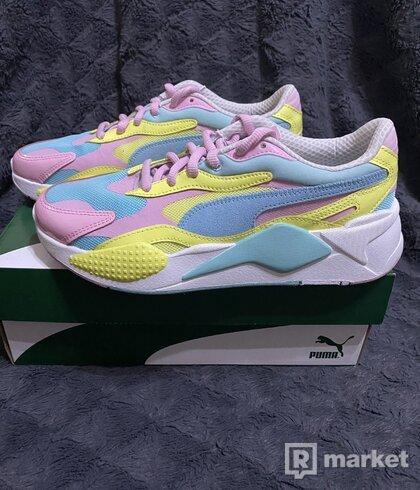 PUMA RS-X³ PLASTIC gulf stream-sunny lime Size 40.5 US 8
