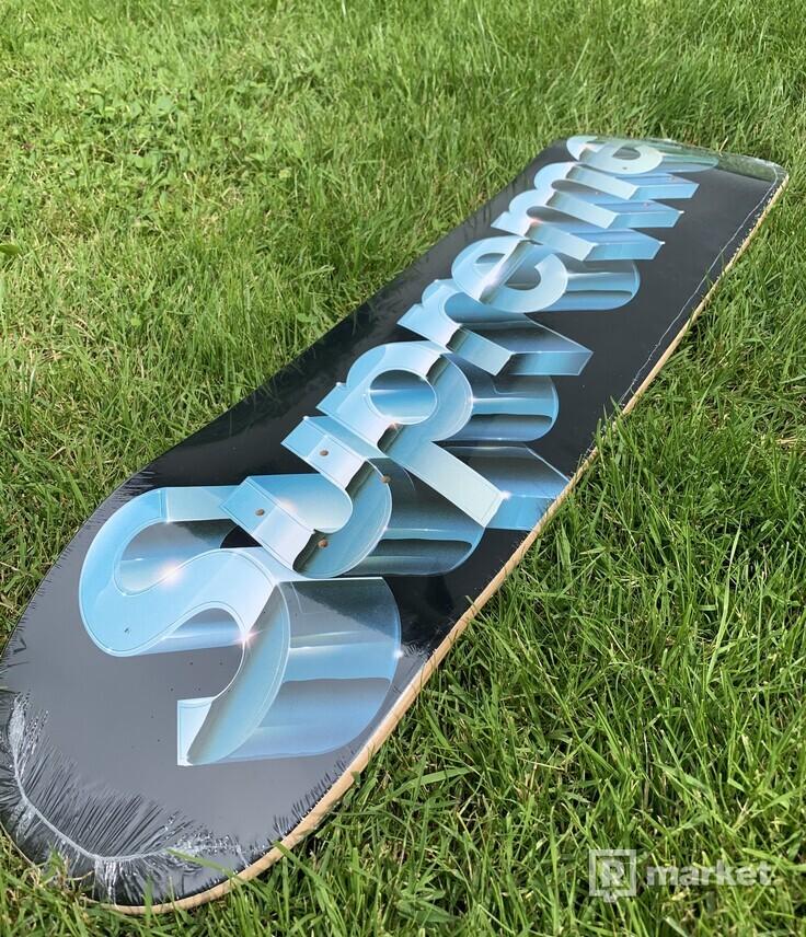 Supreme Chrome Logo Skateboard Deck