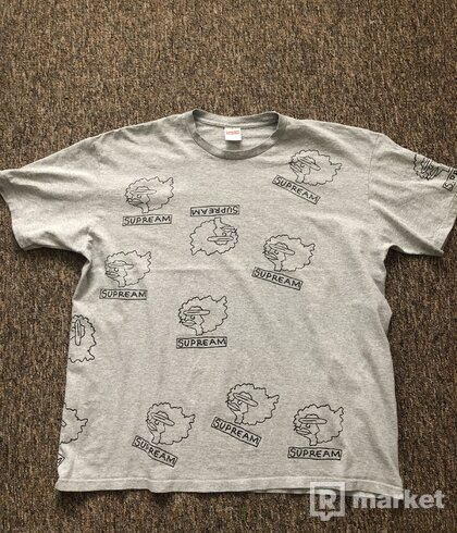 Supreme gonz heads tee grey