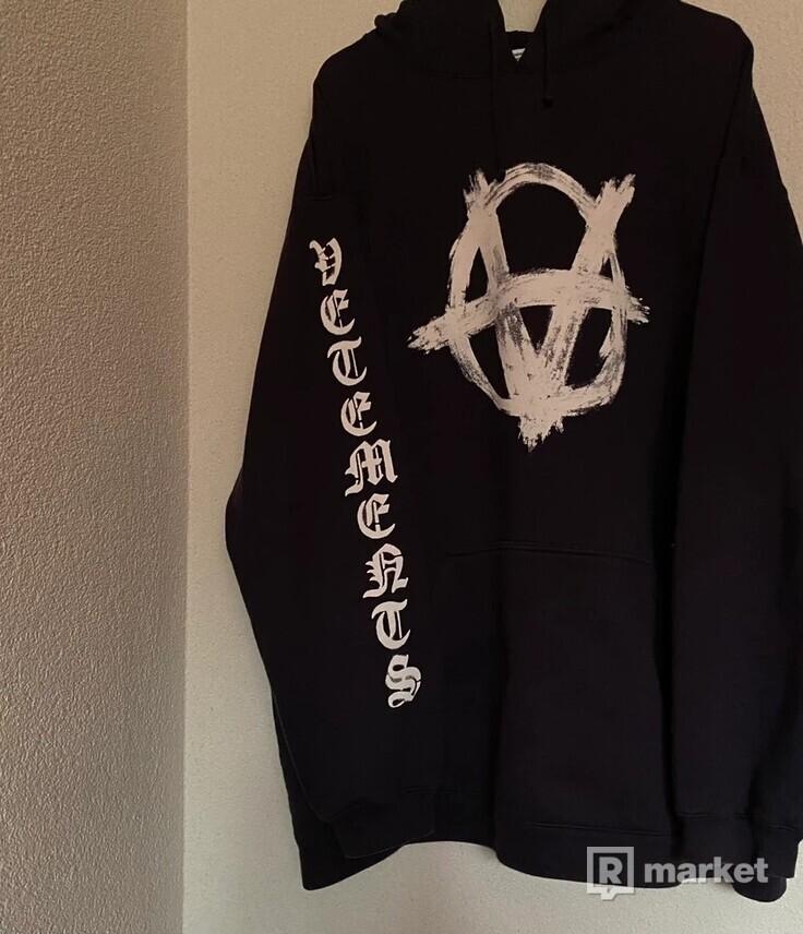 Vetements Anarchy hoodie