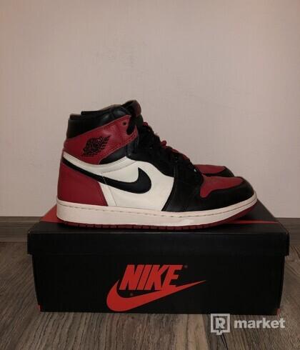 Nike Air Jordan retro 1 OG Bred Toes