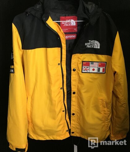 Supreme The north face yellow jacket