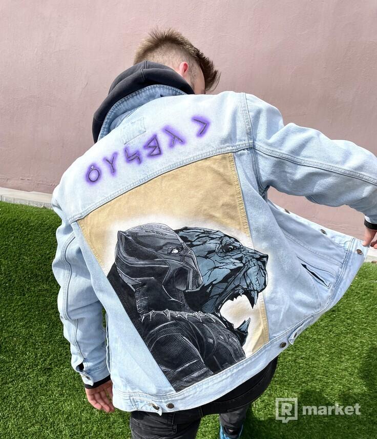 Black Panther Denim Jacket