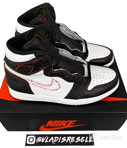 Air Jordan 1 Retro High Defiant White Black Gym Red