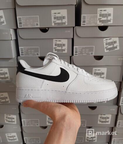 Nike Air Force 1 white black-swoosh