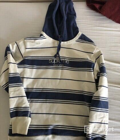 Supreme Striped Hooded Sweatshirt