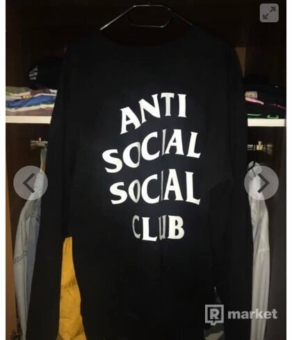 "ANTI SOCIAL SOCIAL CLUB  ""MIND GAMES""  CREWNECK BLACK"