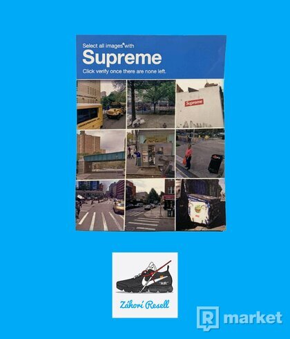 Supreme verify sticker