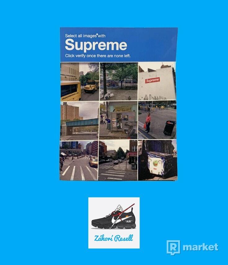 Supreme verify sticker