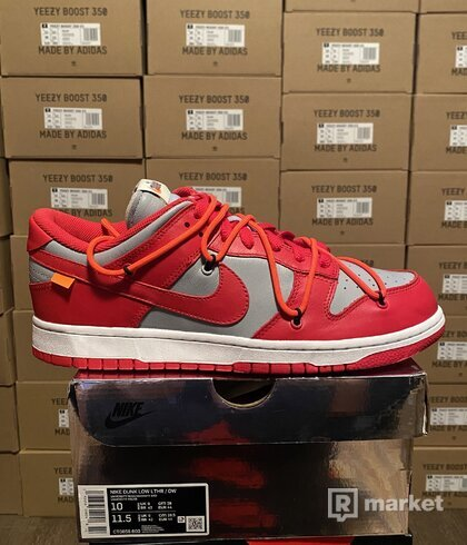 Nike Dunk Off white red