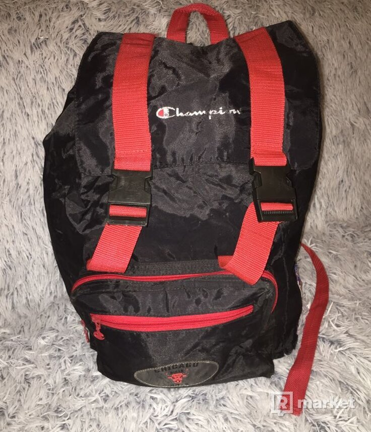 RARE Oldschool Champion Chicago Bulls Ruksak Backpack