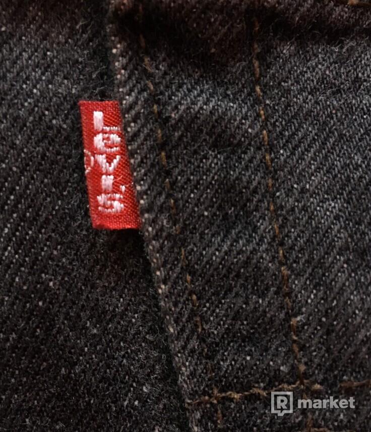 Vetements Levi's Knee Slit Back Logo Denim jeans