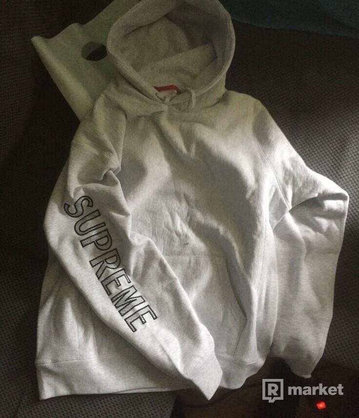 Supreme Sleeve Embroidery Hooded Sweatshirt
