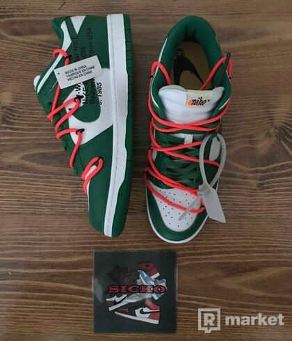 Nike Dunk Low x Off White Pine Green