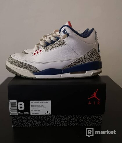 Jordan 3 retro OG True Blue a Jordan 3 retro OG Black Cement 2018