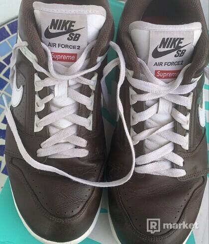 Nike SB Air Force 2 Low Supreme Brown