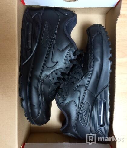 Nike Air Max 90 Triple Black Leather