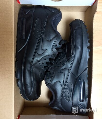 Nike Air Max 90 Triple Black Leather