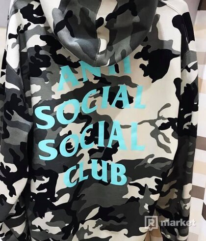 "ANTI SOCIAL SOCIAL CLUB  ""MELORSE AVE""  CAMO HOODIE"