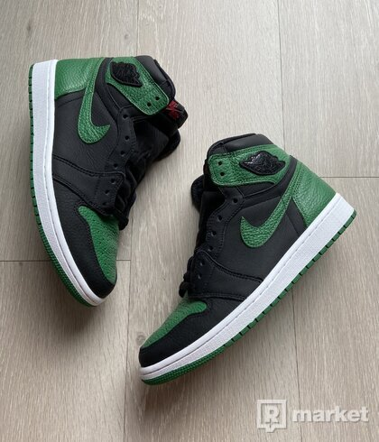 Wts air jordan 1 retro high pine green