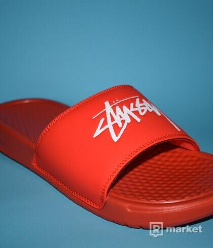 Nike Benassi Stussy Habanero Red (US 6 - EU 38,5)