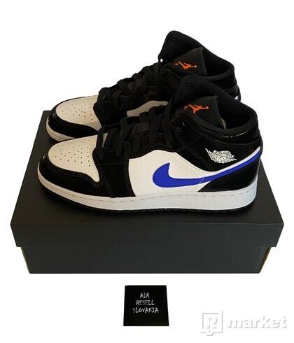Nike Air Jordan 1 Mid GS Racer Blue